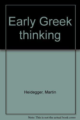 9780060638580: Early Greek thinking