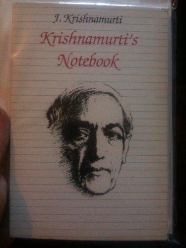 9780060647933: Krishnamurti's Notebook
