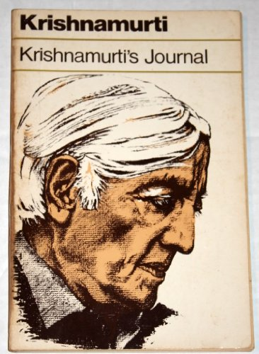 9780060648411: Krishnamurti's Journal