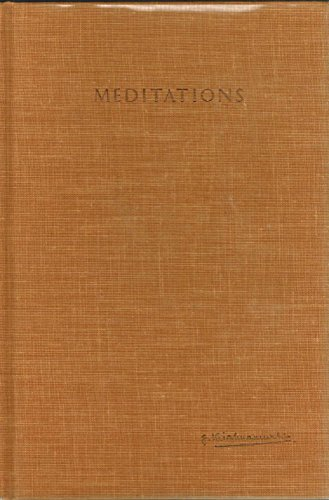 9780060648510: Meditations