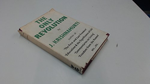 9780060648695: The Only Revolution