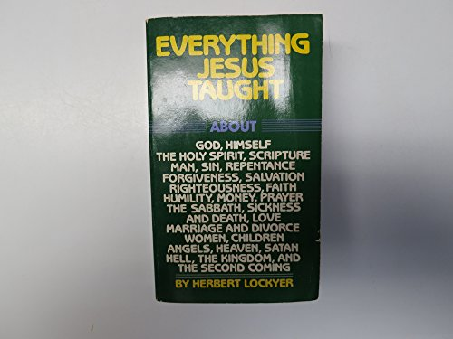 9780060652593: Everything Jesus Taught