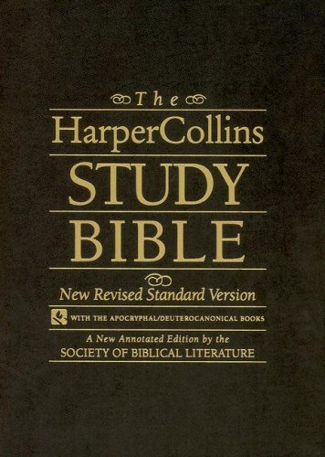9780060656805: The HarperCollins Study Bible black leather: New Revised Standard Version (with the Apocryphal/Deuterocanonical Books)
