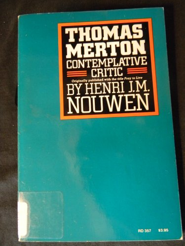 9780060663247: THOMAS MERTON- CONTEMPLATIVE CRITIC