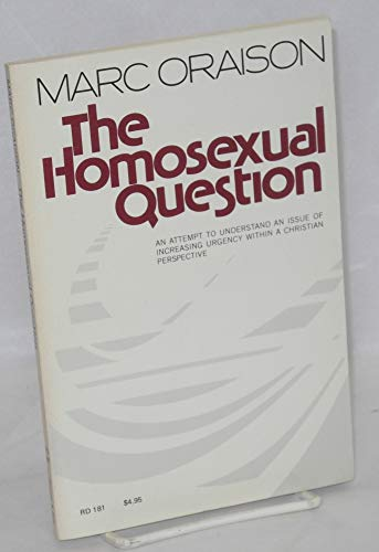 9780060663964: Title: The homosexual question