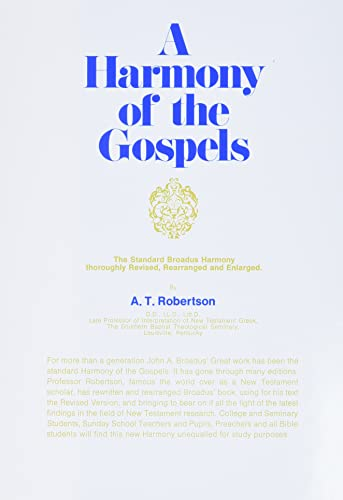 9780060668907: A Harmony of the Gospels