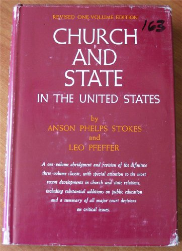 9780060677107: Church and State in the United States