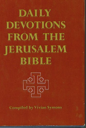 9780060678159: Daily devotions from the Jerusalem Bible