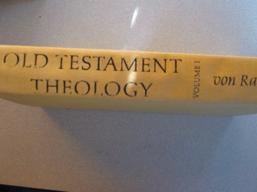 9780060689308: Old Testament Theology: Volume I: The Theology of Israel's Historical Traditions