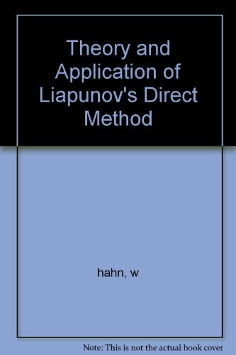 9780060690274: Theory and Application of Liapunov's Direct Method