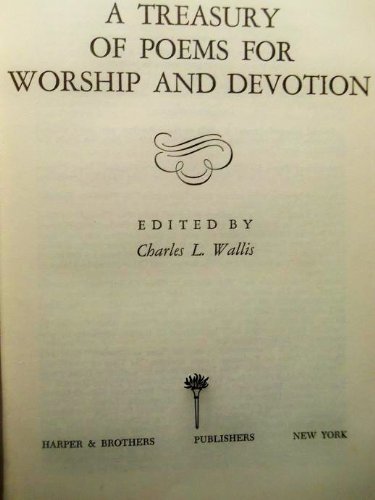 9780060691509: Treasury of Poems for Worship and Devotion