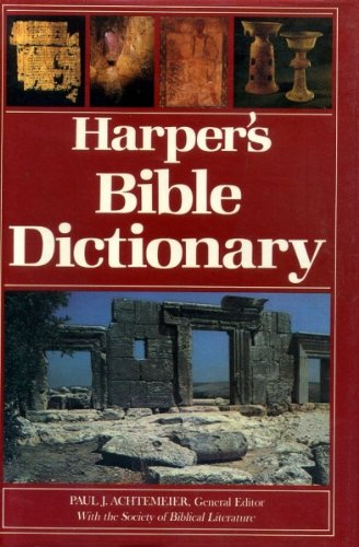 9780060698621: Harper's Bible Dictionary