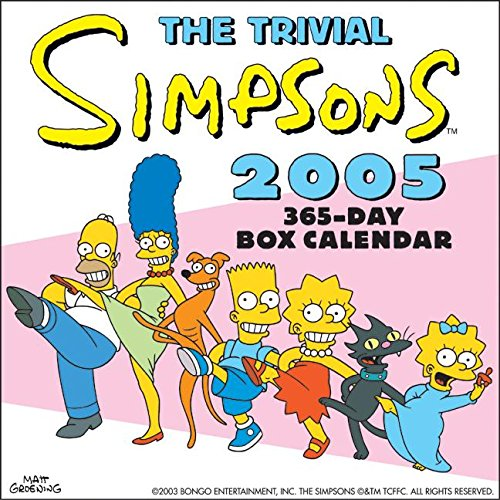 9780060722418: The Trivial Simpsons 2005 365-Day Box Calendar