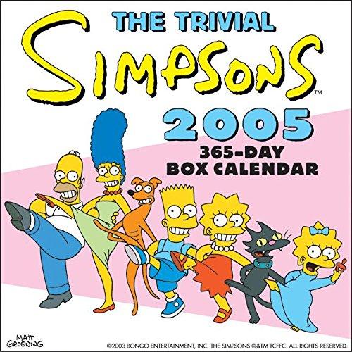 9780060722418: The Trivial Simpsons 2005 Calendar