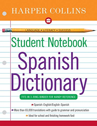 9780060727871: Harpercollins Student Notebook Spanish Dictionary