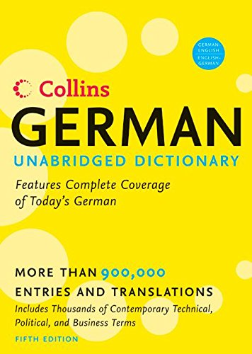 9780060733810: Collins German Unabridged Dictionary 5th Edition (Harpercollins Unabridged Dictionaries)