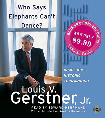9780060743475: Who Says Elephants Can't Dance? CD SP