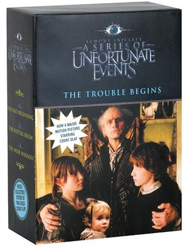 9780060757731: The Trouble Begins, Movie Tie-in Edition: A Box of Unfortunate Events, Books 1-3 (The Bad Beginning; The Reptile Room; The Wide Window)