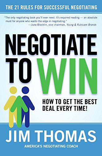 9780060781064: Negotiate to Win: The 21 Rules for Successful Negotiating
