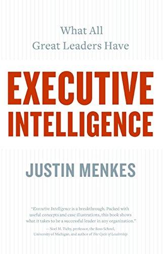 9780060781873: Executive Intelligence