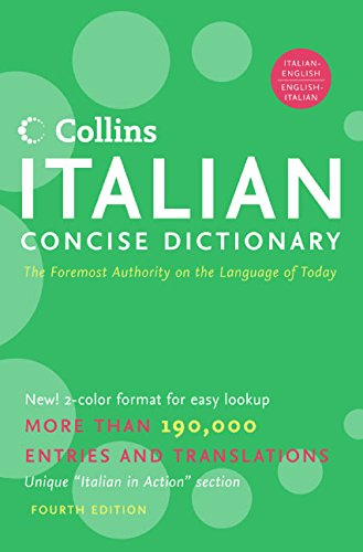 9780060787325: Collins Italian Concise Dictionary, 4e (HarperCollins Concise Dictionaries) (English and Italian Edition)