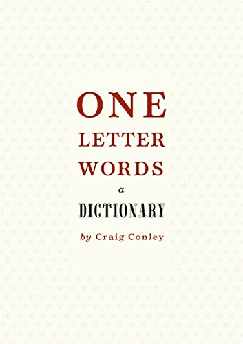 9780060798734: One-Letter Words, a Dictionary