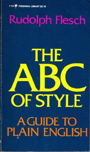 9780060800833: ABC of Style: A Guide to Plain English