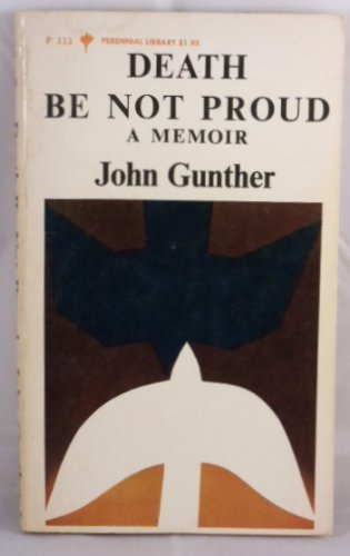 9780060801113: Death Be Not Proud a Memoir
