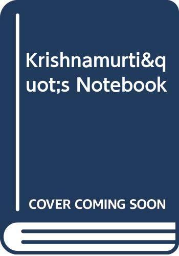 9780060804350: Krishnamurti
