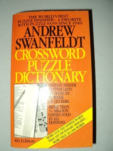 9780060807627: Crossword puzzle dictionary