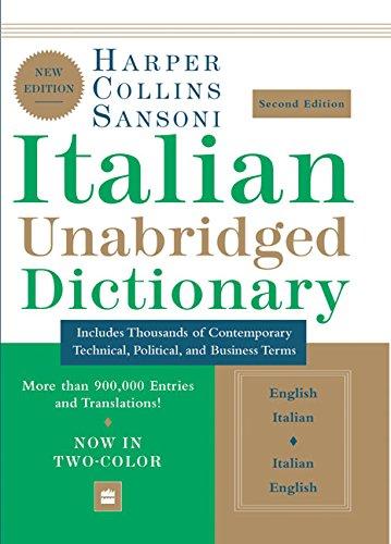 9780060817749: HarperCollins Sansoni Italian Unabridged Dictionary, Second Edition