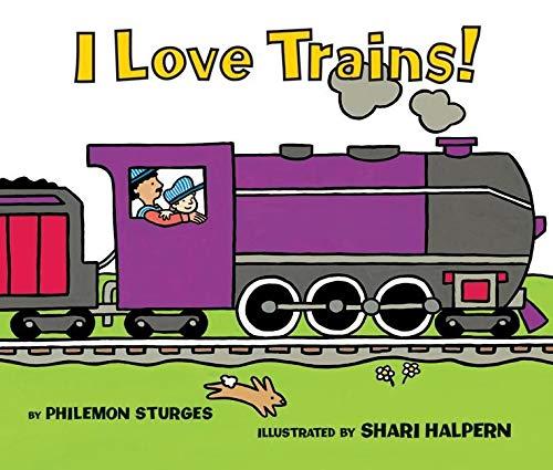 9780060837747: I Love Trains! Board Book