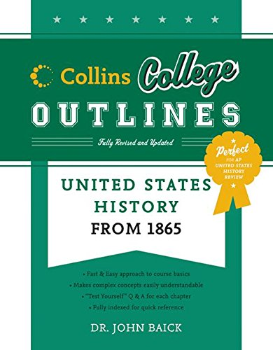 9780060881580: United States History from 1865 (Collins College Outlines)