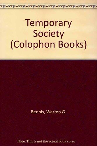 9780060901493: Temporary Society