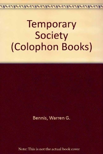 9780060901493: Temporary Society (Colophon Books)