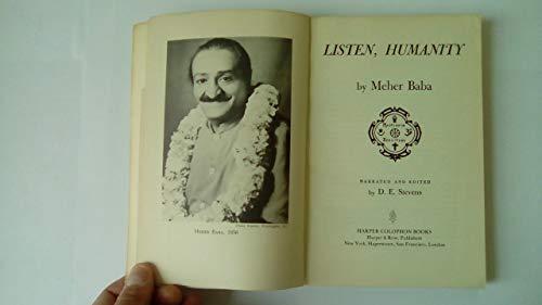 9780060902292: Listen Humanity (Harper Colophon Books, Cn 229)