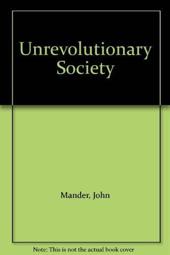 9780060902339: Unrevolutionary Society