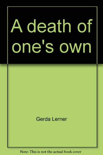 9780060907419: A death of one's own