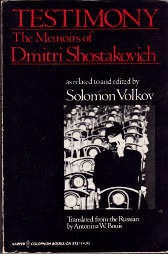 9780060908126: Testimony: The Memoirs of Dmitri Shostakovich