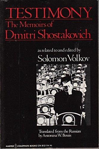 9780060908126: Testimony: The Memoirs of Dmitri Shostakovich