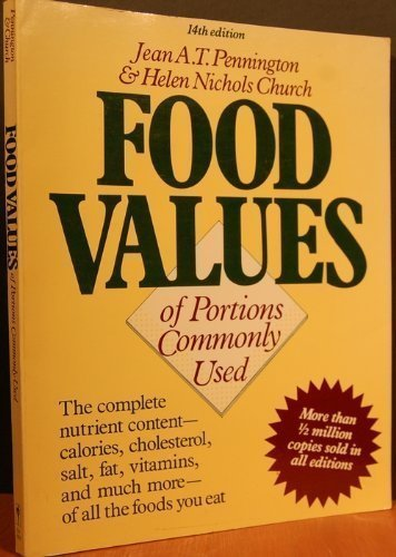 9780060908195: Food Values of Portions Commonly Used