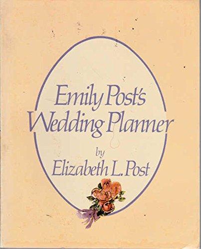 9780060909352 Emily Posts Wedding planner AbeBooks Elizabeth L