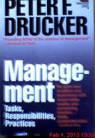 9780060912079: Management: Tasks, Responsibilities, Practices (Harper & Row management library)