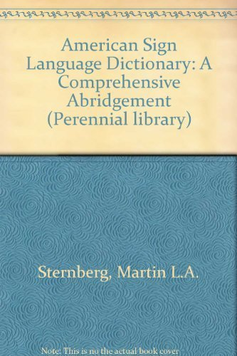 9780060913830: American Sign Language Dictionary: A Comprehensive Abridgement (Perennial library)