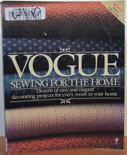 """9780060914097: """"Vogue"""" Sewing for the Home (Perennial library)"""