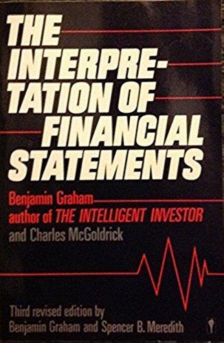 9780060914189: The Interpretation of Financial Statements