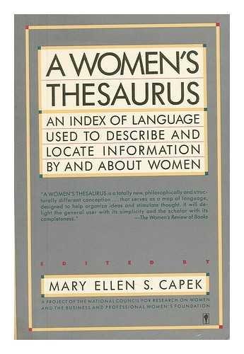 9780060915520: Women's Thesaurus (Perennial library)