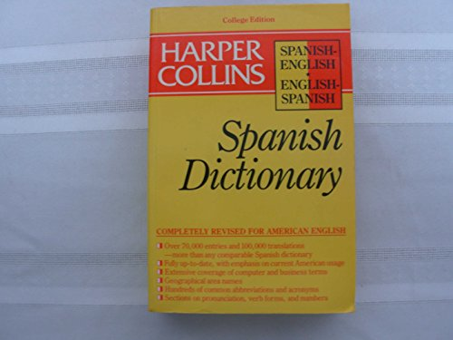 9780060919511: Harper Collins Spanish Dictionary College Edition