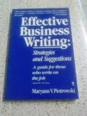 9780060919726: Effective Business Writing: Strategies and Suggestions
