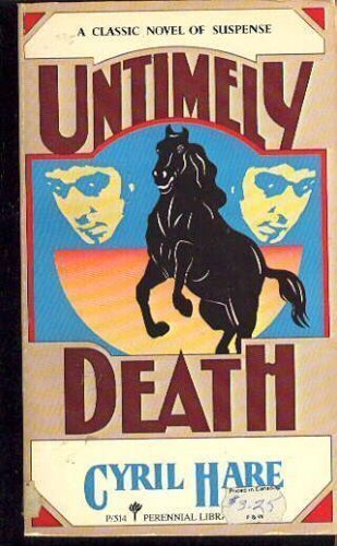 9780060922528: Untimely Death